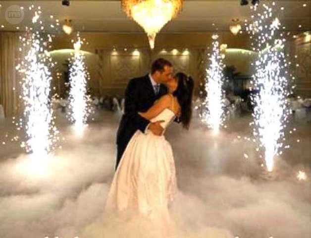 imagen de boda con efectos especiales