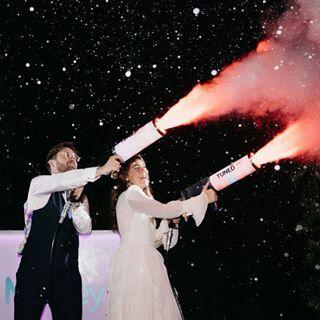 pistola de co2 humo para bodas