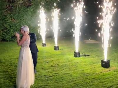 fuego frio, fuego de chispas para boda alicante